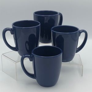 Navy Corelle Coordinates Coffee Mug Set